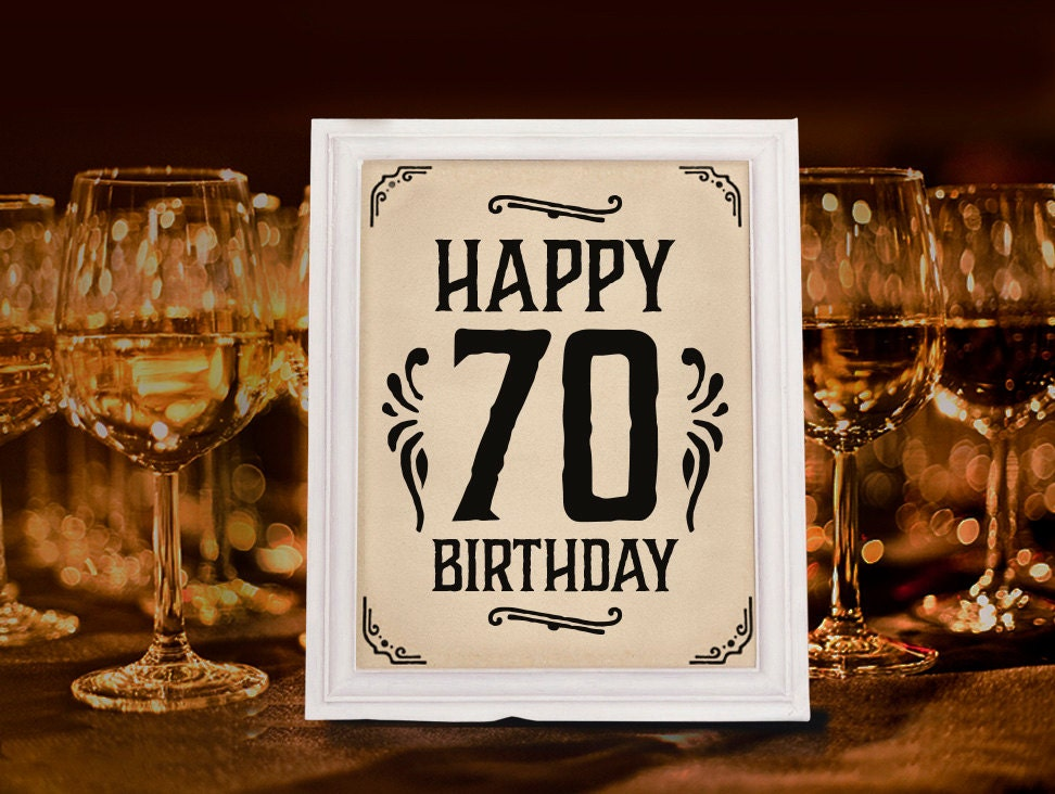70th birthday party decoration printable 70th anniversary for Decoration 70th birthday