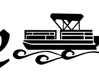 Crusin On The Pontoon Window Wall Decal Truck Boat - Decals for pontoon boats