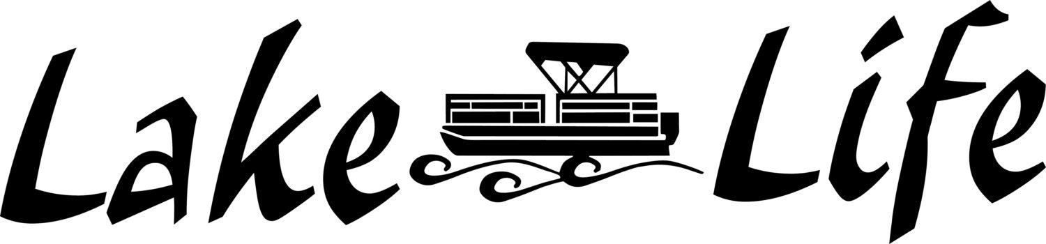 Lake life pontoon window wall decal summer party boat trailer for Party boat fishing near me