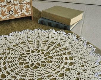 Crocheted Cotton Doilies High Tea Party Decor White Elegant Round Lace Table Topper Napkin Crochet Centerpiece Accent Tablecloth Home Decor