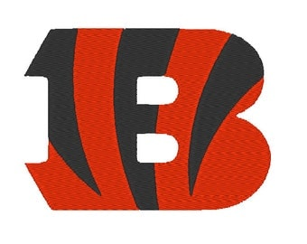 "Cincinnati Bengals Embroidery Design 4"", 6"" and 8"" Hoops"