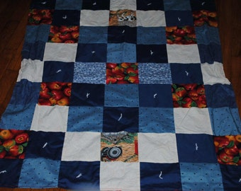Handmade Hand Tied Lap Quilt  36 x 46 inches