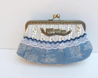 Coin purse Kiss lock Metal frame purse
