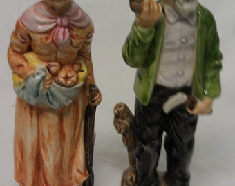 Wales Man and Woman Figurines Couple