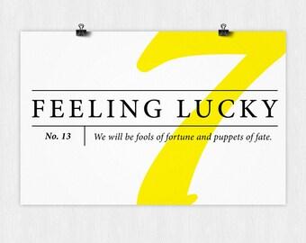 Feeling Lucky Poster
