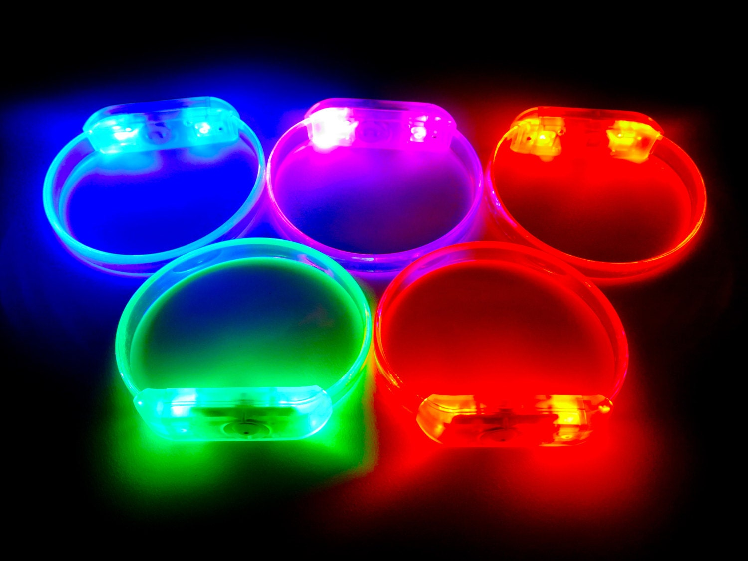 small light band flashing led bracelet ideal for paracord