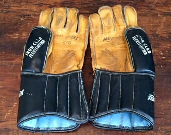 Vintage Leather Hockey Gloves