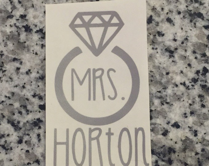 MRS. Decal with Diamond