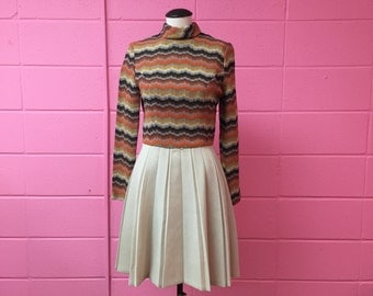 1960s Jerell of Texas polyester dress