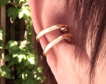 gold filled unpierced earrings non pierced ear cuff etsy your place to buy and sell all things handmade 1960