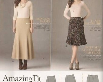 Womens Skirts with Customize Fit New Sewing Pattern Simplicty 2058 Size 20/28