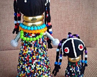 Beaded hand made Ndebele doll ( fertility doll)