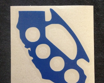CA Brass Knuckle vinyl decals - Available in all sizes/colors!