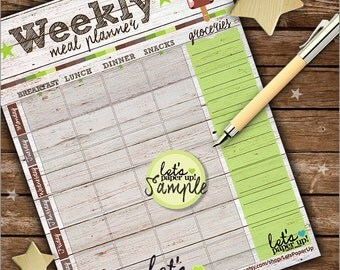 60%OFF - Meal Planner, Printable Planner, Weekly Meal Planner, To Do List, Food Planner, Week, Organizing Printables, Kawaii Planner, Meal