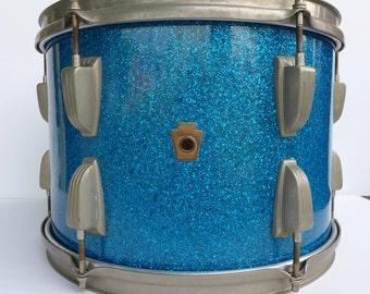 "Vintage Ludwig WFL Blue Sparkle 13"" Rack Tom Drum"