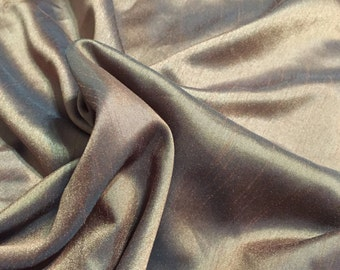 Faux silk fabric for drapes 9.5 yards,Fabric for drapes bronze color 9.5yards, dupioni-faux-silk-flax-, Two tone iridescent