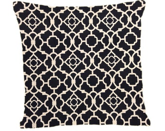 Decorative pillow cover Throw pillow Black Lattice