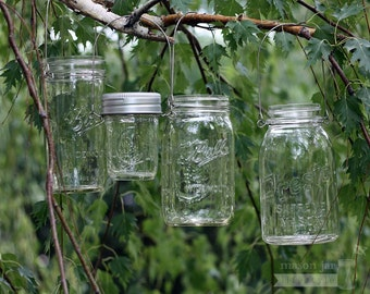Wire Handles / Hangers / Holders for Regular or Wide Mouth Mason Jars - Stainless Steel and Rustproof 6-pack | Hang Mason Jars | DIY Lantern