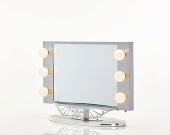 Broadway Lighted Vanity Mirror Pink by HollywoodVanityGirl on Etsy