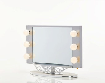 broadway lighted vanity mirror pink by hollywoodvanitygirl on etsy. Black Bedroom Furniture Sets. Home Design Ideas