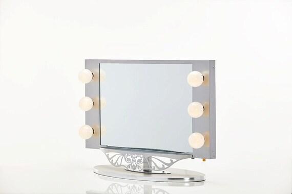 starlet lighted vanity mirror silver by hollywoodvanitygirl. Black Bedroom Furniture Sets. Home Design Ideas
