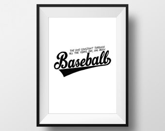 Baseball - Field Of Dreams Movie Quote Print Film Gift