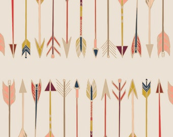 Art Gallery Fabric Wild & Free - Fletching Chant - Maureen Cracknell - Arrows