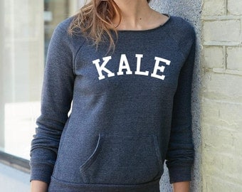 Maniac For Kale University - Women's Sweatshirt - Scoop or Over the Shoulder - S-XL