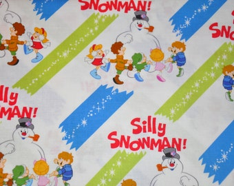 One Yard of Frosty the Snowman 100% Cotton Quilt Fabric by Quilting Treasures