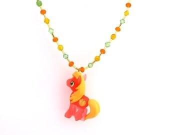 My Little Pony Big Macintosh Swarovski crystal necklace