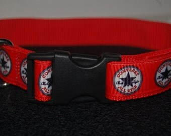 Converse (red) dog collar