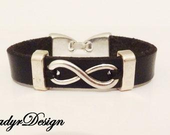 Bracelet for kids,Infinity leather bracelet,Leather bracelet,Kids leather bracelet,kids jewelry,Gift,bracelet for children