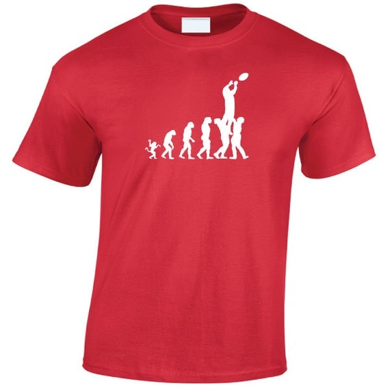 Evolution Rugby Lineout T-Shirt. Rugby World Cup Six Nations Canada Cup T-Shirt. Rugby Shirt. Rugby T-Shirt  Rugby Gift. Evolution Shirt.