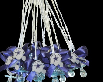 Dallas Cowboys Baby Shower Pacifier Necklace Party Pack (12)