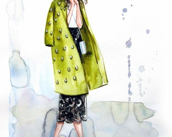 Fashion Illustration Print.Mia.b
