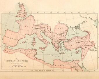 The Roman Empire Map - 1860's