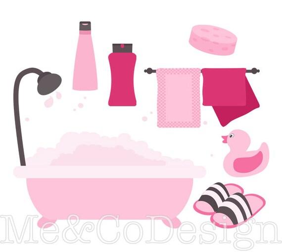 Pink Bathroom Clipart Fun Pretty Clipart Retro Shampoo