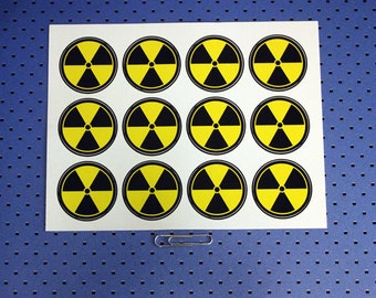 Nuclear Warning Labels - Sticker Sheet