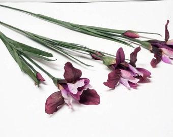 Artificial Silk Iris Set of 3