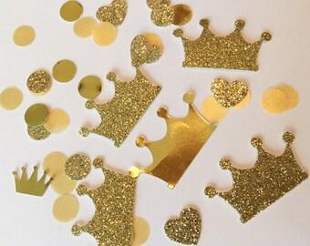Shimmering Gold Crown Funfetti Confetti