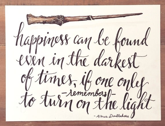 Original Hand Lettered Calligraphy Art Harry Potter