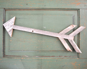 Reclaimed Wood Silver Arrow