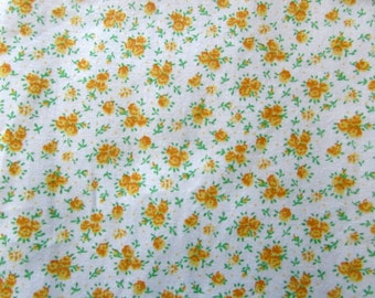 1/2 Yard Yellow Calico Fabric