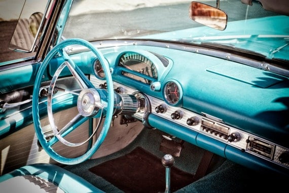 1950s ford thunderbird classic car interior 50s car. Black Bedroom Furniture Sets. Home Design Ideas