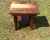 Wormy Chestnut End Table