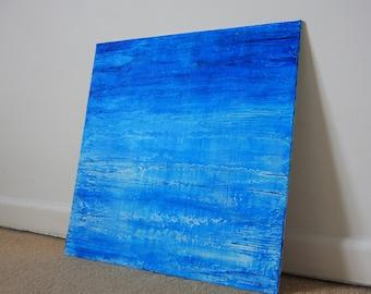 Textured Seascape Aqua Blue Water Reflection