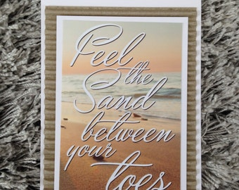Feel the sand between your toes card