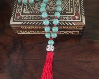 Blue Mala beads with Tassle