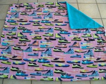 Cool Sneaker Shoe Fleece Throw Blanket Great Colors!!!