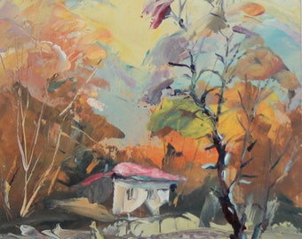 Contemporary landscape oil painting